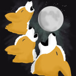 Three Corgi Moon