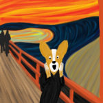 The Scream Corgi