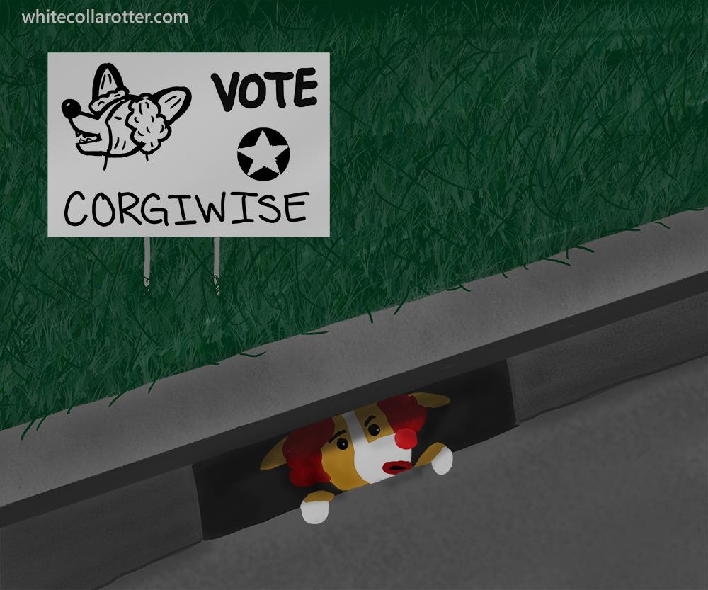 Vote Pennywise Corgi